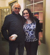 Eliese Lissner with Larry David