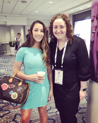 Eliese Lissner with Aly Raisman