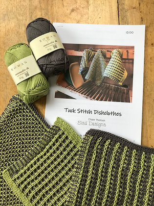 Tuck Knit Dishcloth Kit