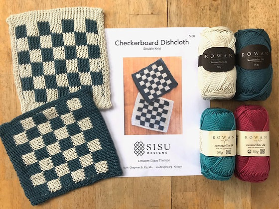 Checkerboard (double knit) Dishcloth