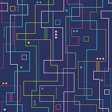Линейный абстрактный узор