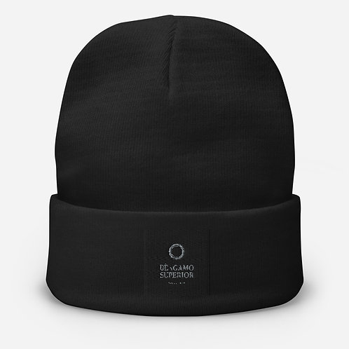 B S Embroidered Beanie