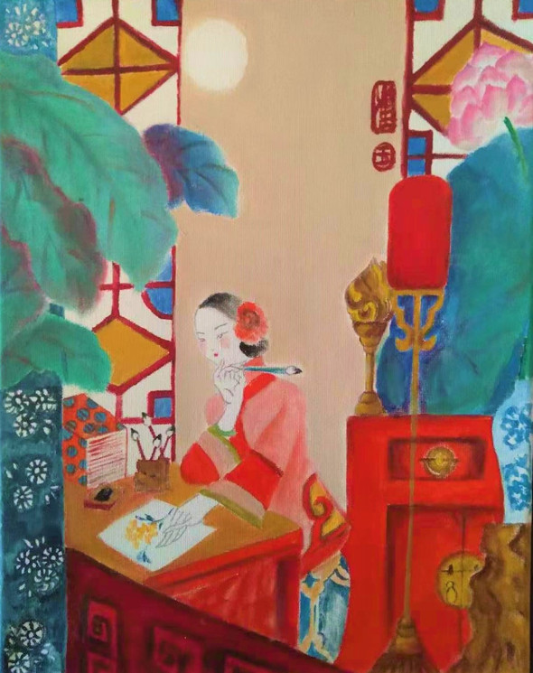 Thinking About Painting   花瓷间之思画