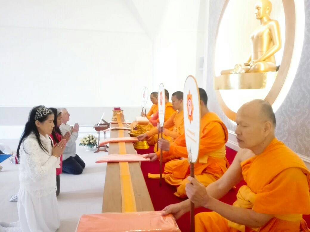 Monks are receving robe