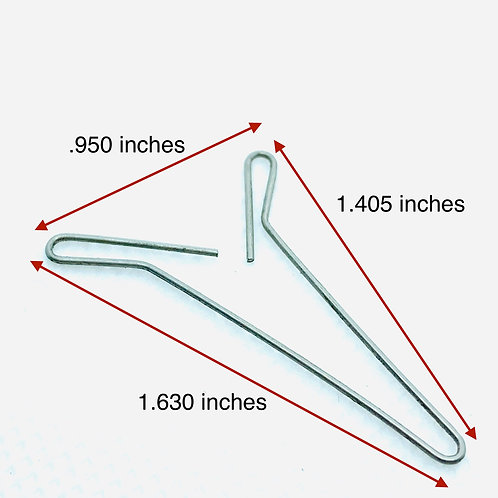 .028 inches wire diameter, .130 inches loop OD, 1.630 inches length