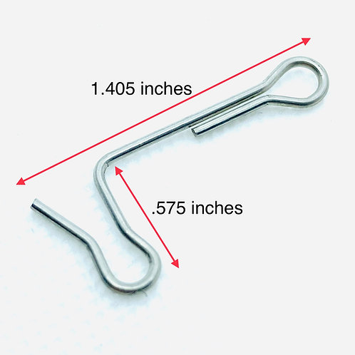 .041 inches wire diameter, .250 inches loop OD, 1.405 inches length