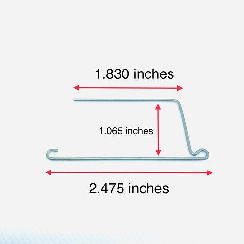 .045 inches wire diameter, 2.475 inches x 1.830 inches x 1.065 inches