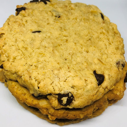 1/2 Dozen Oatmeal Chocolate Chip Cookies