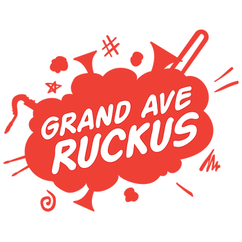 Grand Ave Ruckus brass band logo