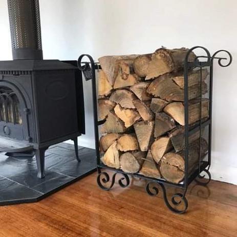 Large square ornate wood holder
