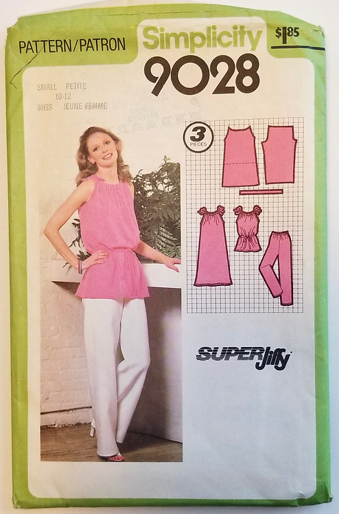 1979 Simplicity #9028 tops and pants