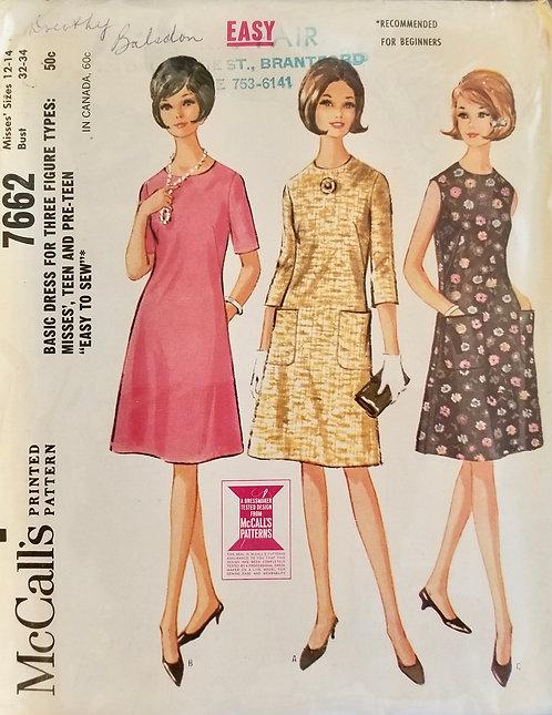 1964 McCall's dress pattern #7662