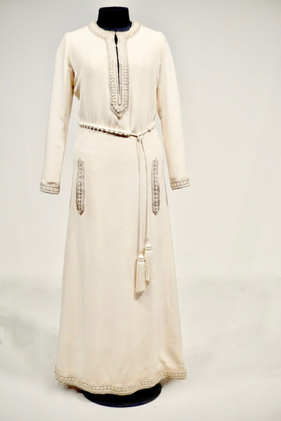 Silk Dress inspired by the dashiki, by Yves St. Laurent, Paris, Spring 1968