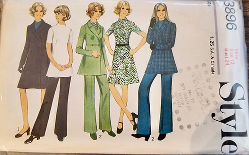 1972 Style women's coat/dress/tunic/trousers #3896