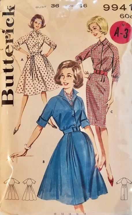 1961 Butterick dress pattern #9941