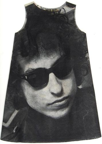 Bob Dylan Photo-Print Paper Dress, Poster Dresses Ltd., London, England, 1967