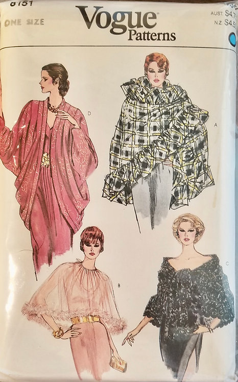 1981 Vogue evening shawl/wrap #8151