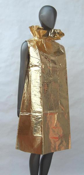 Gold Paper Dress, Elisa Daggs, New York, 1967