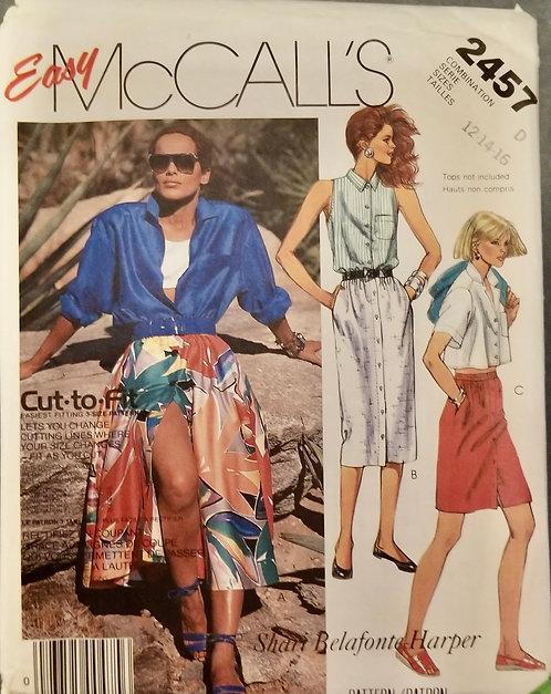 1986 McCall's pattern #2457