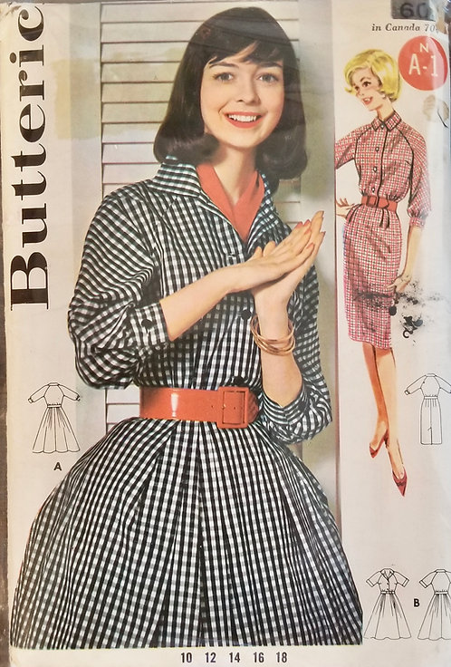 1961 Butterick dress pattern #9941