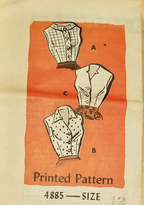 1959 Anne Adams sleeveless blouse pattern