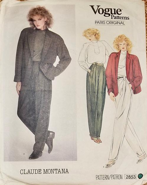 1982 Vogue Claude Montana pattern #2853