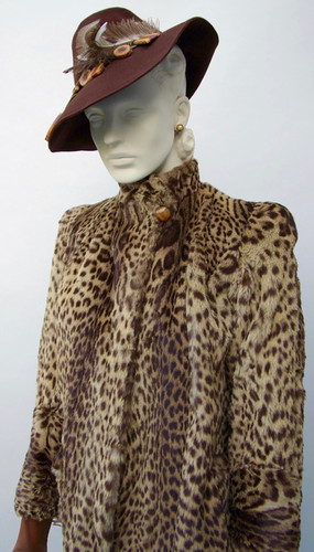 Geoffrey Cat Fur Coat, American, c. 1940