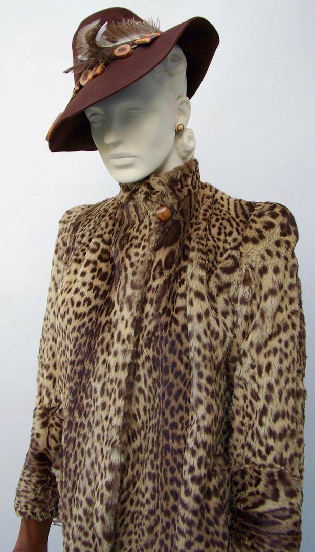 Geoffrey Cat Fur Coat, American, c. 1940