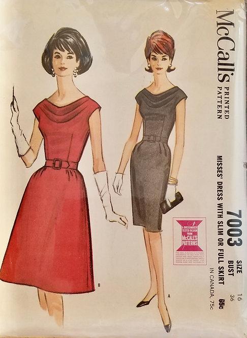 1963 McCall's dress pattern #7003