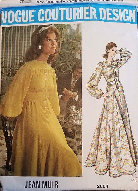 Early 1970s Jean Muir Vogue Couturier Design #2664 dress