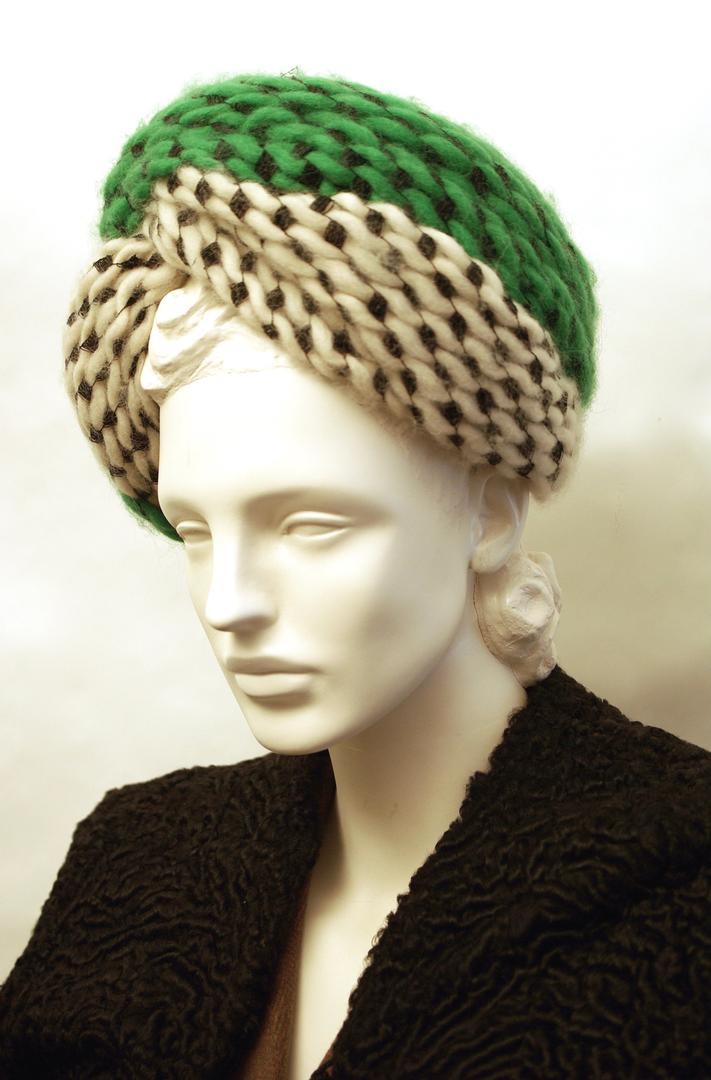 Yarn Turban by Rose Valois, Paris, c. 1945