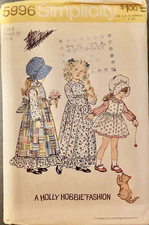 1973 Simplicity pattern #5996 as is