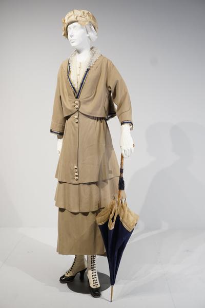 Wool Suit by Martial & Armand, Paris, c. 1914 (shortened c. 1917)