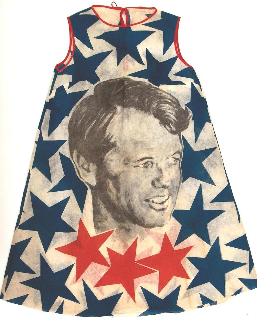 Robert Kennedy Presidential Campaign Paper Dress, 1968