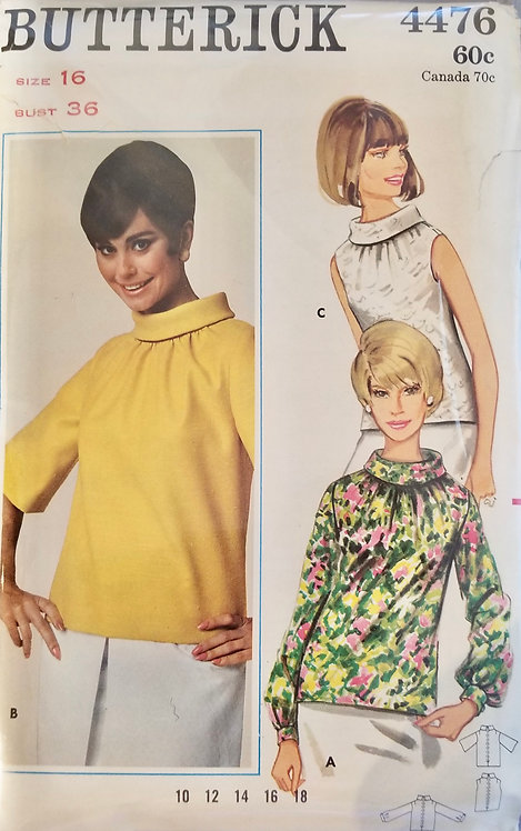 1967 Butterick blouse pattern #4476