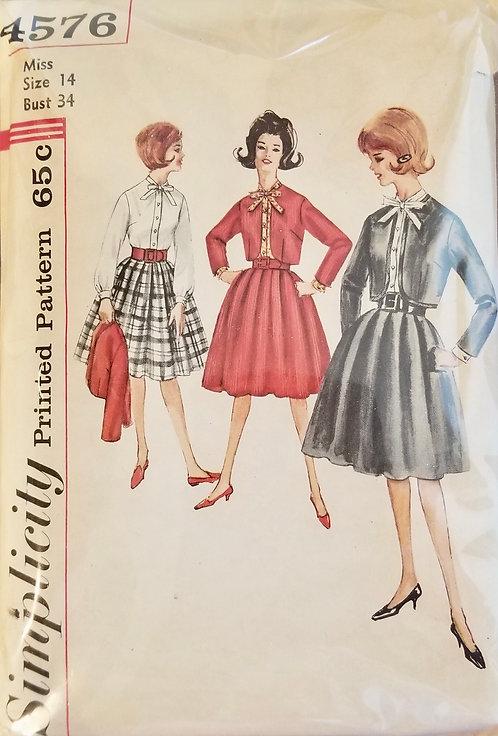 1962 (circa) Simplicity  skirt, jacket, blouse #4576