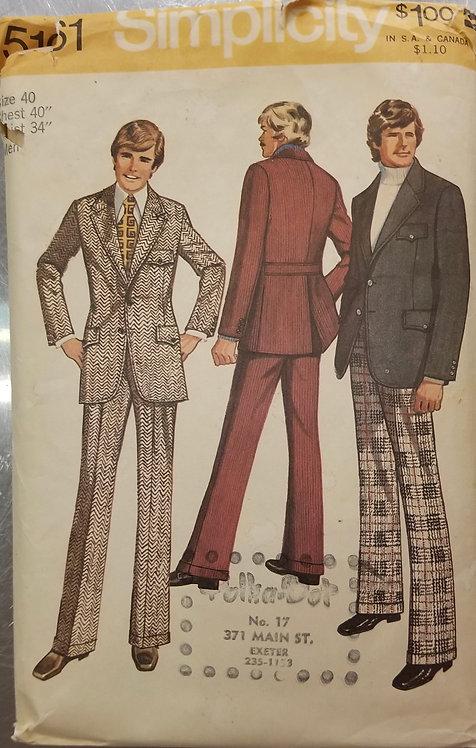 1972 Simplicity men's suit pattern #5161