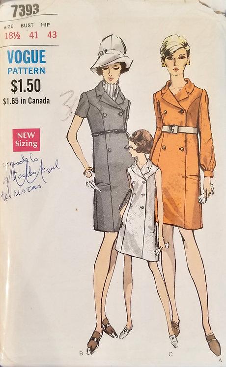 1968 (circa)Vogue dress #7393