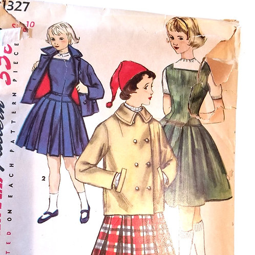 Simplicity #1327 dress and jacket - 1955