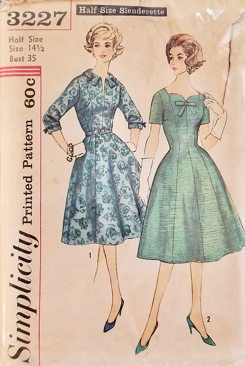 1959 circa Simplicity dress pattern #3227