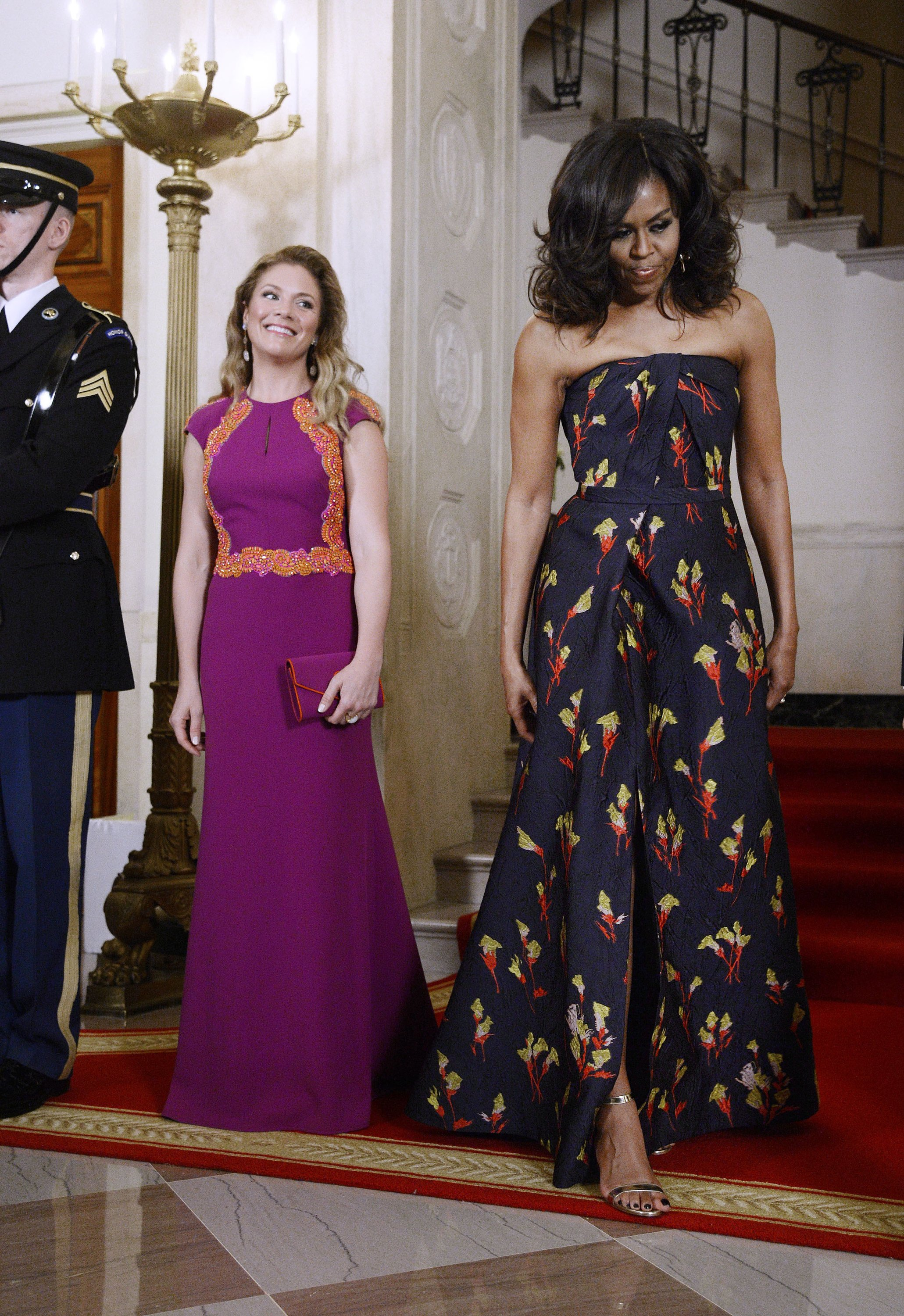 Sophie Gregoire Trudeau wearing Lucian Mathis dress 2016