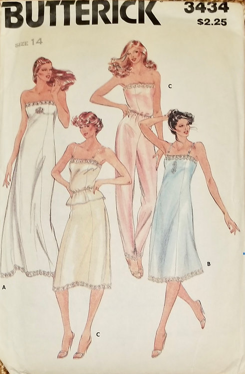 1986 Butterick lingerie pattern #3434