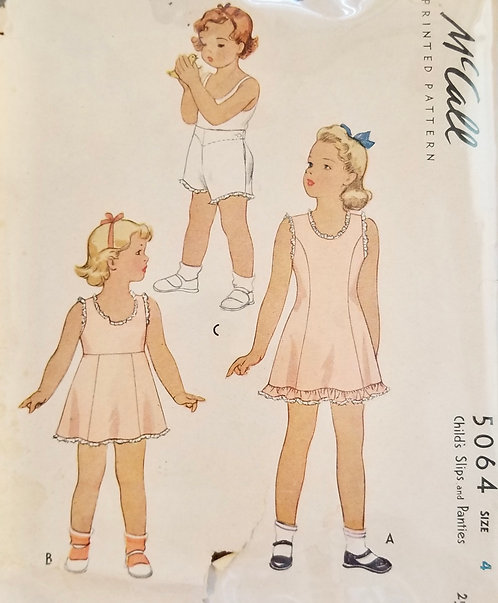 1943 McCall girl's slip pattern #5064