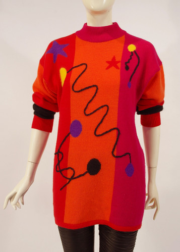 Sweater by Skovhuus, with design inspired by the Memphis Art Movement, Denmark, mid 1980s