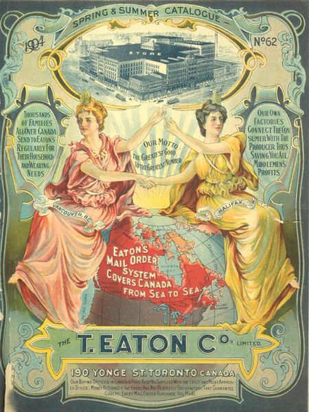 By 1920, the T. Eaton company complex of stores and factories in downtown Toronto employed over 11,000 people. By 1940, they had become the 8th largest retailer in the world.