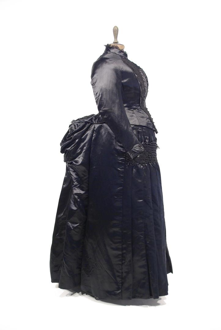 Black Satin Dress by D. Gardner & Co., c. 1886, Ottawa, Ontario