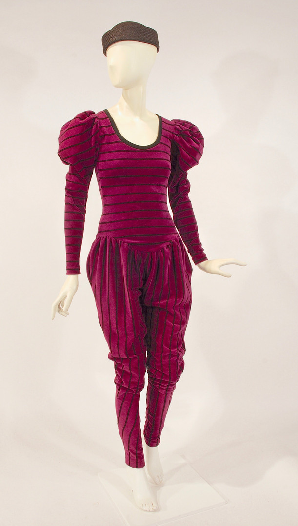 Purple Velour Jumpsuit, by Betsy Johnson, New York, 1981