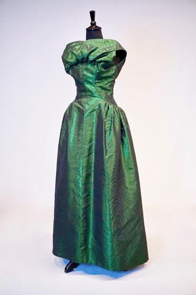 Moiré Silk Evening Gown by Givenchy, Paris, c. 1958
