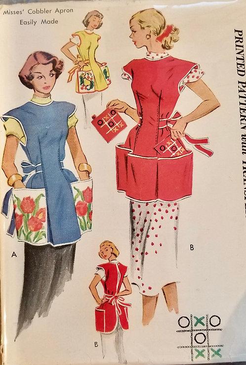 1952 McCall's apron pattern #1713