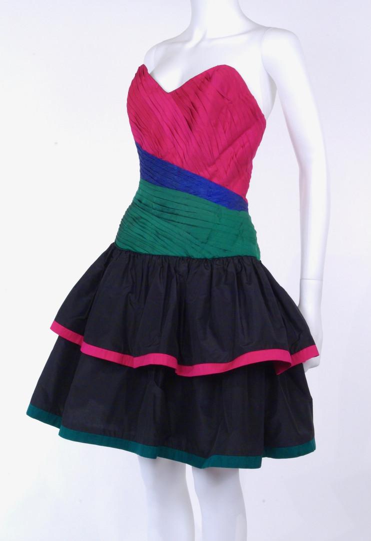 Silk Taffeta Cocktail Dress, 1986